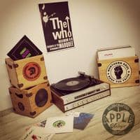 7 Inch Record Boxes Handcrafted Vintage Vinyl Crates